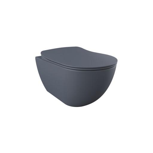 Creavit Free Wall Hung Combined Bidet Toilet - Basalt Matt