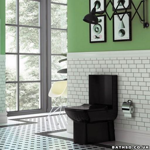 Creavit Lara Close Coupled Combined Bidet Toilet - Black