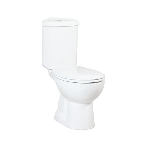 Creavit Sedef Corner Close Coupled Combined Bidet Toilet - Open Back