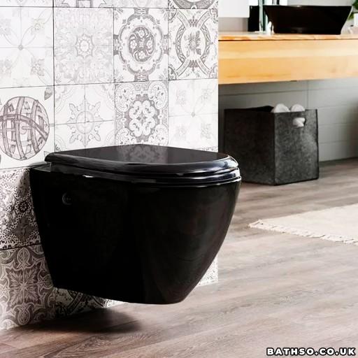 Creavit Terra Wall Hung Combined Bidet Toilet - Black