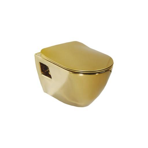 Creavit Terra Wall Hung Combined Bidet Toilet - Gold