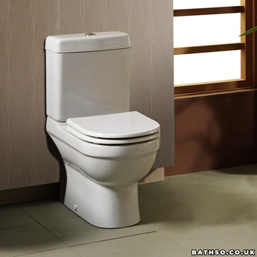 Creavit Vitroya Close Coupled Combined Bidet Toilet - Open Back