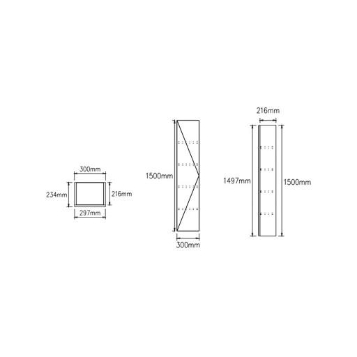 Lecico Carlton Single Door Tall Wall Hung Storage Unit - Dark Elm