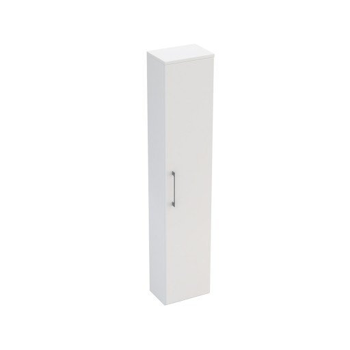 Lecico Carlton Single Door Tall Wall Hung Storage Unit - Gloss White