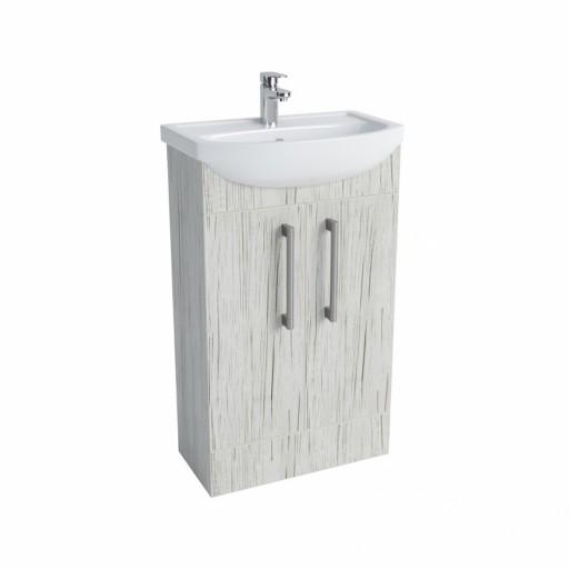 Lecico Lima Double Door Vanity Unit & Basin - 500MM - Whitewood