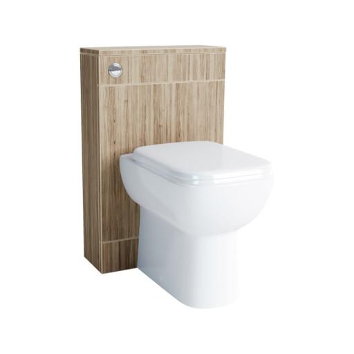 Lecico Lima Back to Wall Toilet Unit & Cistern - 500MM - Stone Ash