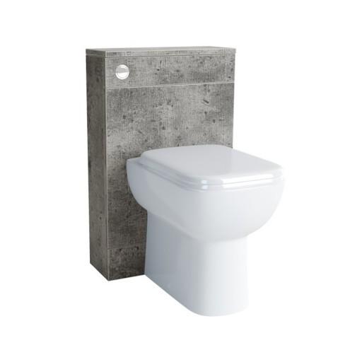 Lecico Lima Back to Wall Toilet Unit & Cistern - 500MM - Concrete
