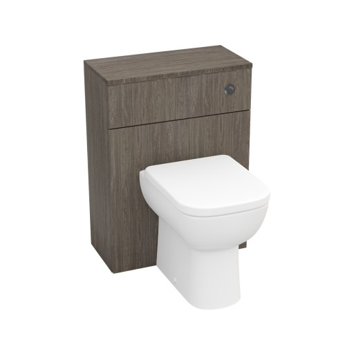 Lecico Stonely Back to Wall Toilet Unit & Cistern - 600MM - Dark Elm