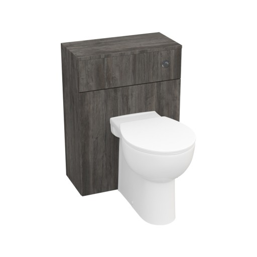 Lecico Stonely Back to Wall Toilet Unit & Cistern - 600MM - Driftwood
