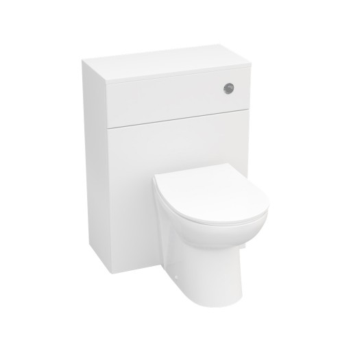 Lecico Stonely Back to Wall Toilet Unit & Cistern - 600MM - Gloss White