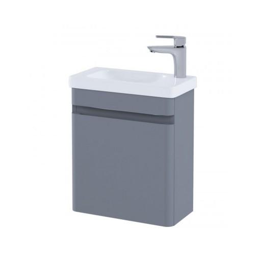 RAK Resort Wall Hung Cloakroom Vanity Unit & Basin - 450MM - Matt Grey