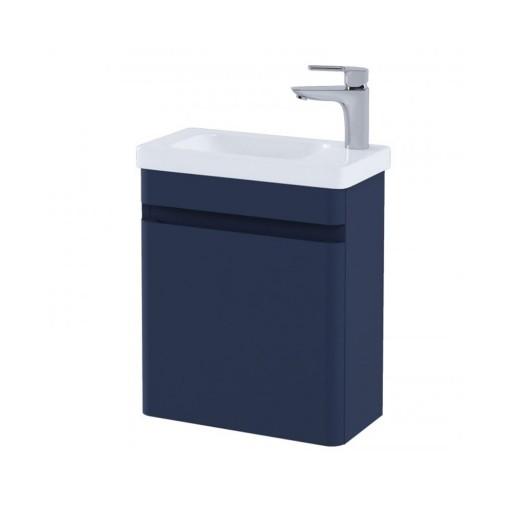 RAK Resort Wall Hung Cloakroom Vanity Unit & Basin - 450MM - Denim Blue