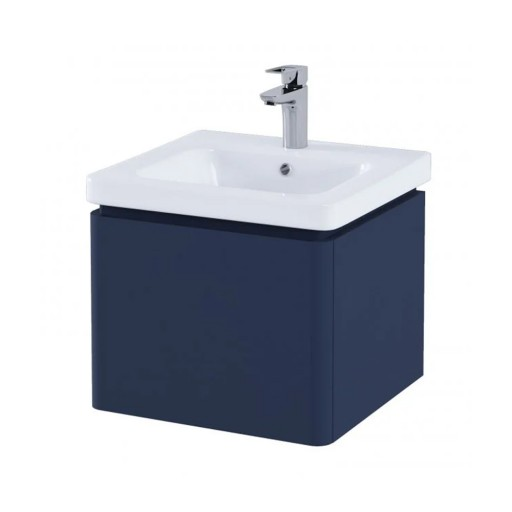 RAK Resort Wall Hung Vanity Unit & Basin - 500MM - Denim Blue