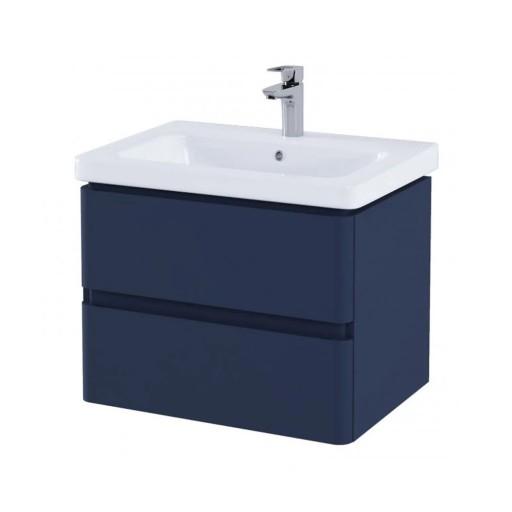 RAK Resort Wall Hung Vanity Unit & Basin - 650MM - Denim Blue