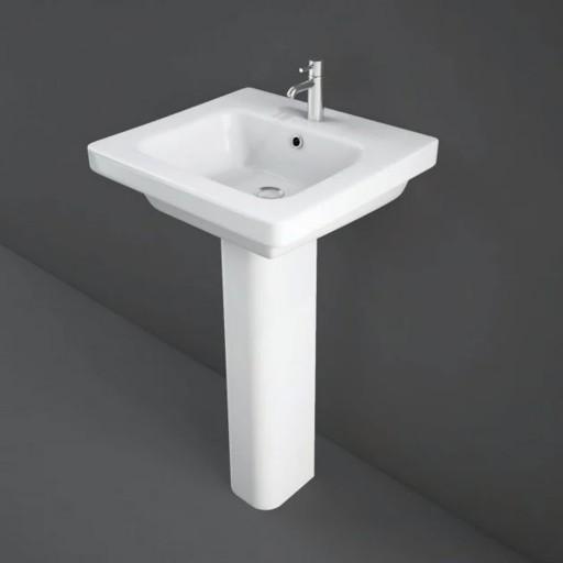 RAK Resort 500MM Single Tap Hole Wash Basin & Full Pedestal