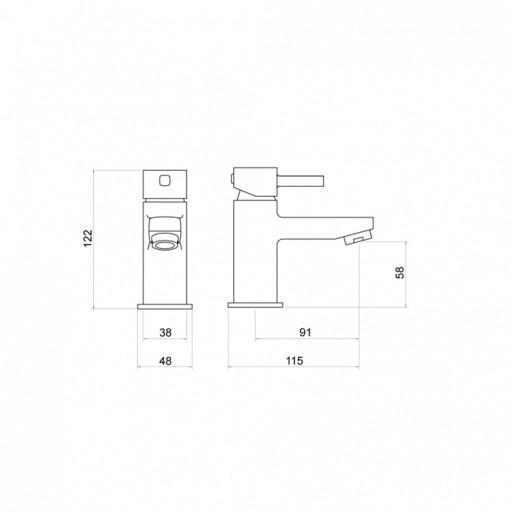 Trisen Arden Chrome Mini Single Lever Mono Basin Mixer Tap