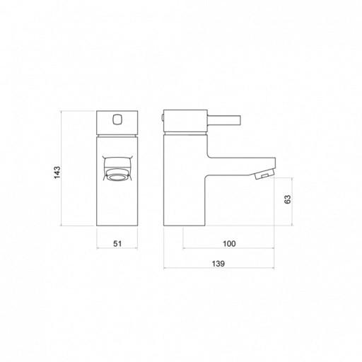 Trisen Arden Chrome Single Lever Mono Basin Mixer Tap