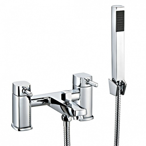 Trisen Arden Chrome Bath Shower Mixer + Handset Kit