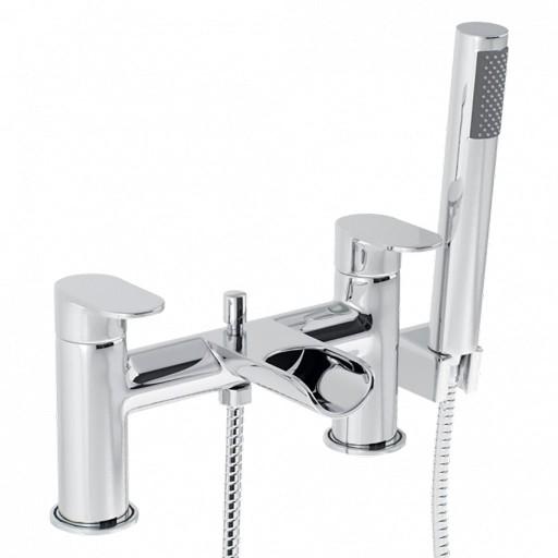 Trisen Ganton Chrome Bath Shower Mixer + Handset Kit