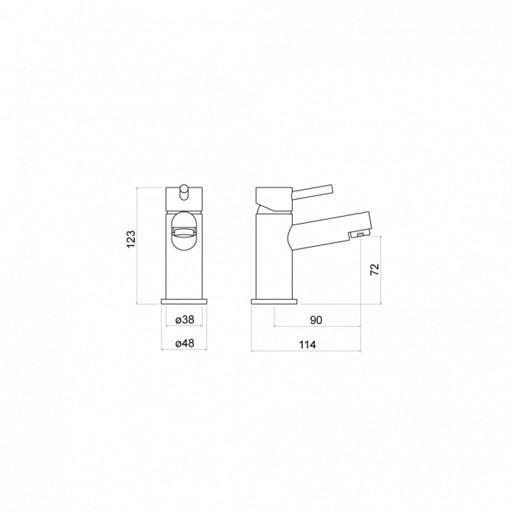 Trisen Grove Chrome Mini Single Lever Mono Basin Mixer Tap