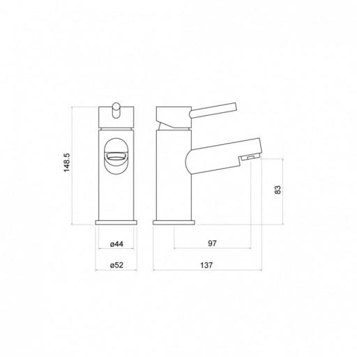 Trisen Grove Chrome Single Lever Mono Basin Mixer Tap