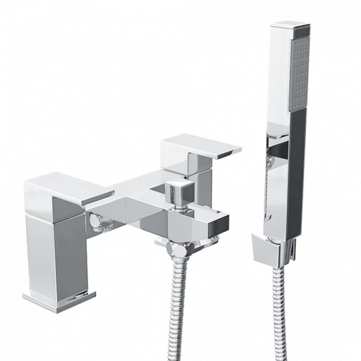 Trisen Hiron Chrome Bath Shower Mixer + Handset Kit