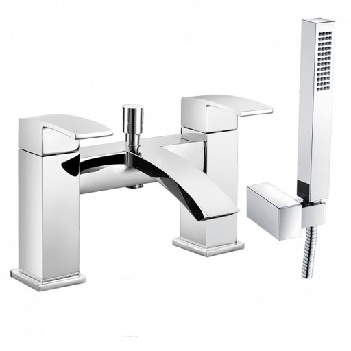 Trisen Knole Chrome Bath Shower Mixer + Handset Kit