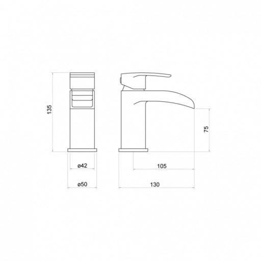 Trisen Merion Chrome Single Lever Mono Basin Mixer Tap