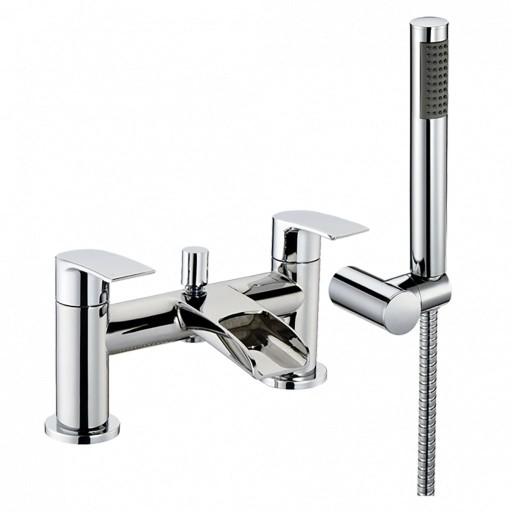 Trisen Merion Chrome Bath Shower Mixer + Handset Kit