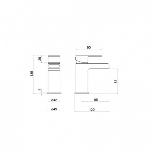 Trisen Warley Chrome Single Lever Mono Basin Mixer Tap