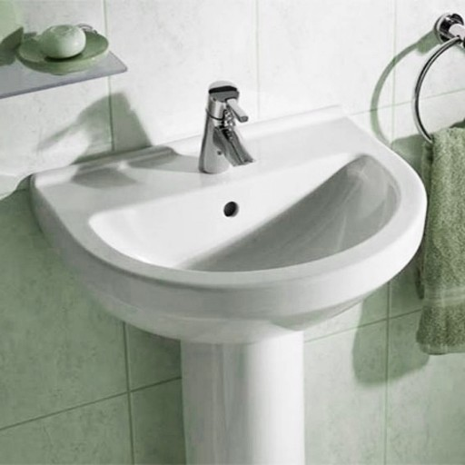 VitrA S50 Round Single Tap Hole Basin - 550 mm