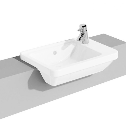 VitrA S50 Square Right Hand Semi Recessed Basin - 550 mm