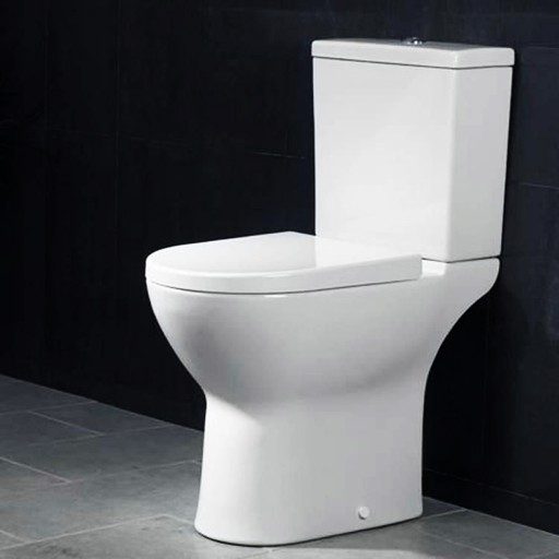 VitrA S50 Comfort Height Close Coupled Toilet - Open Back