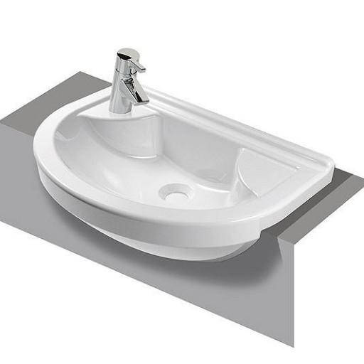 VitrA S50 Round Left Hand Semi Recessed Basin - 550 mm