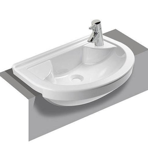 VitrA S50 Round Right Hand Semi Recessed Basin - 550 mm