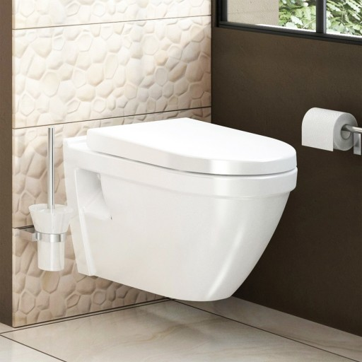 VitrA S50 Wall Hung Rimless Toilet - 520 mm Projection