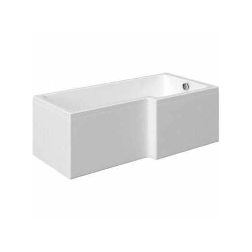 Artesan Cube L Shaped Shower Bath - 1700 mm x 700 mm