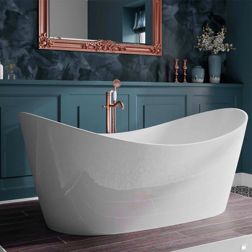 Trojan Emerald Freestanding Slipper Bath - 1800MM x 800MM