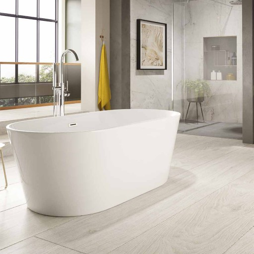 Trojan Hampton Twin-skinned Acrylic Bath - 1600MM x 800MM