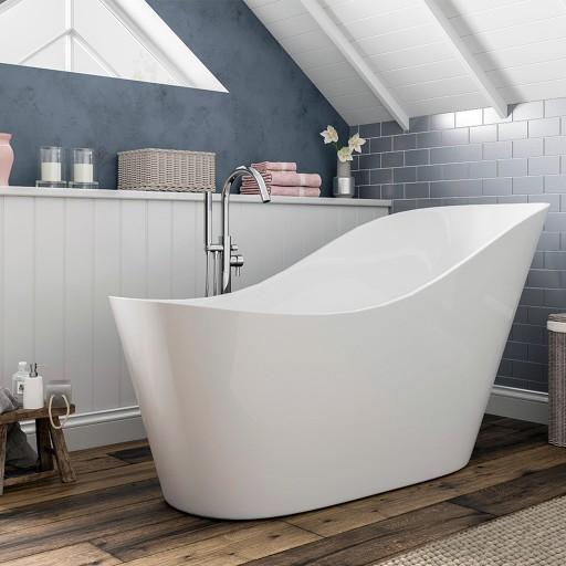 Trojan Winton Freestanding Acrylic Slipper Bath - 1700MM x 720MM