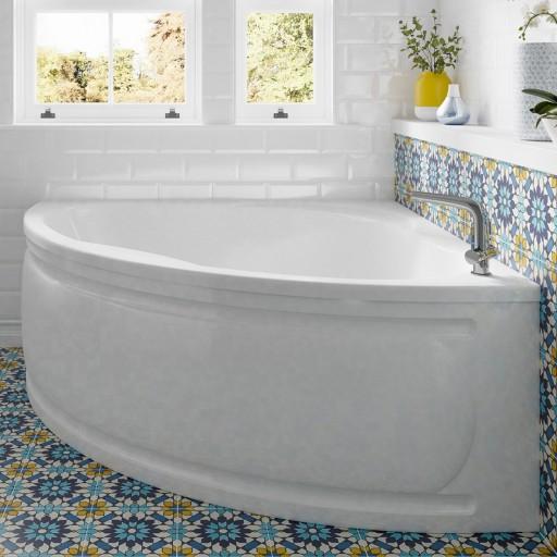 Trojan Laguna Quadrant Corner Bath - 1350MM x 1350MM