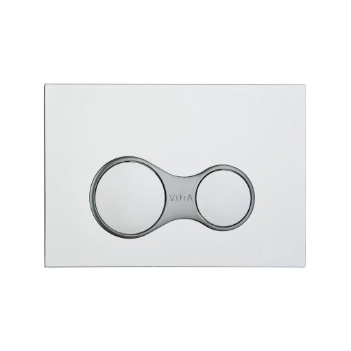 VitrA Sirius Toilet Dual Flush Button - Chrome