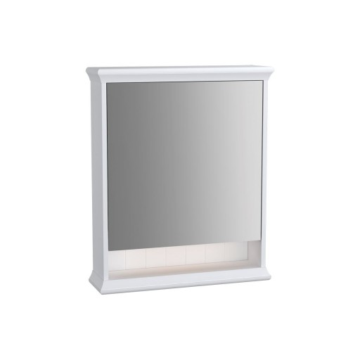 VitrA Valarte Left Hinged Matt White Illuminated Mirror Cabinet 630MM