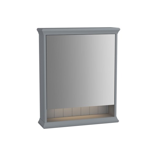 VitrA Valarte Left Hinged Matt Grey Illuminated Mirror Cabinet 630MM