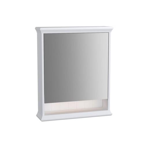 VitrA Valarte Left Hinged Matt Ivory Illuminated Mirror Cabinet 630MM