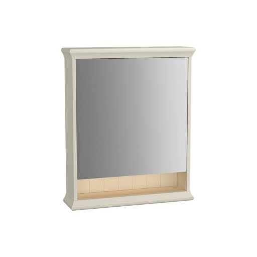 VitrA Valarte Right Hinged Matt White Illuminated Mirror Cabinet 630MM