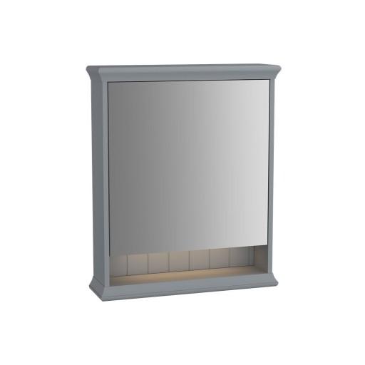 VitrA Valarte Right Hinged Matt Grey Illuminated Mirror Cabinet 630MM