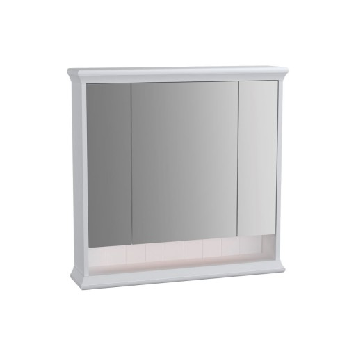 VitrA Valarte Matt White Illuminated Mirror Cabinet 780MM