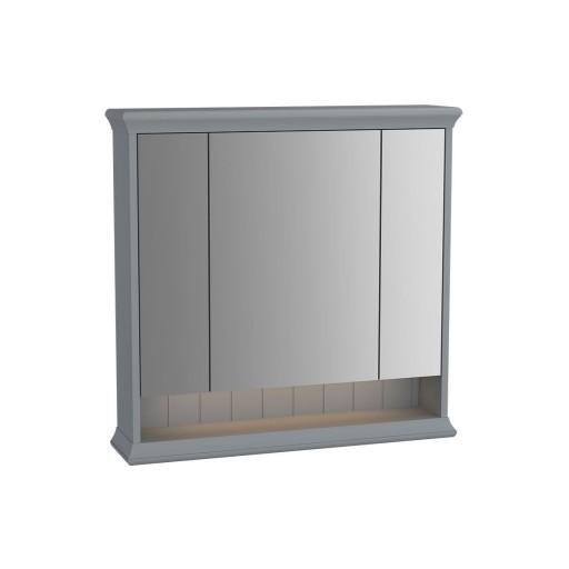 VitrA Valarte Matt Grey Illuminated Mirror Cabinet 780MM
