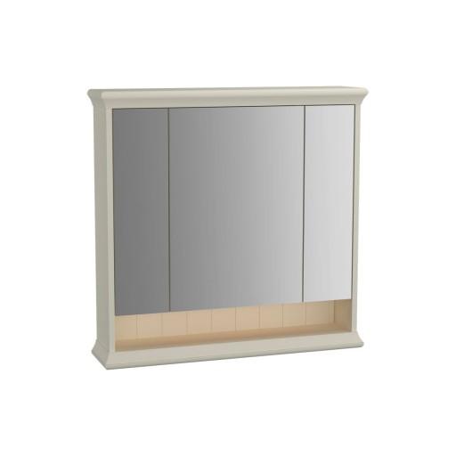 VitrA Valarte Matt Ivory Illuminated Mirror Cabinet 780MM